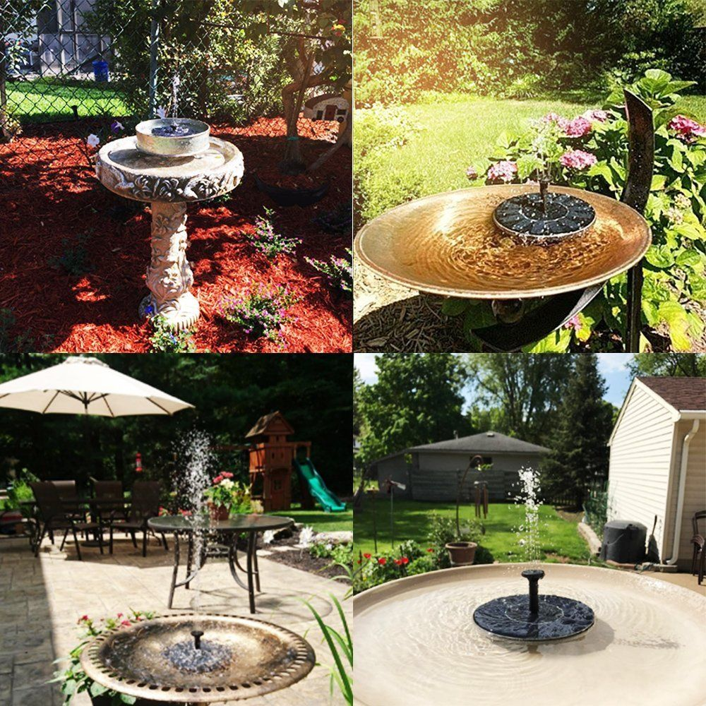 Solar Panel Powered Water Feature Plants Pump Garden Pool